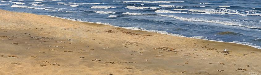 The Beach (13 x 51 cms.)