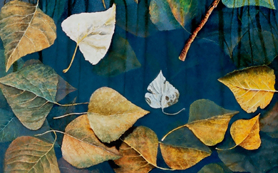 Winter Leaves (90 x 40 cms.)