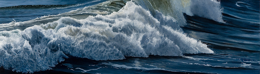 Racing Waves II (50 x 84 cms.)