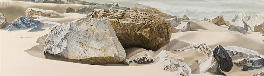 Sand Blasted Boulders (40 x 100 cms.)